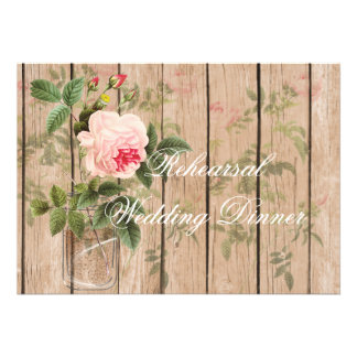Rose of Orleans Ecru Rehearsal Invitation Card
