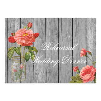 Rose of Orleans Rehearsal Wedding Invitation Card