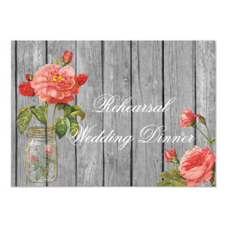 Rose of Orleans Rehearsal Wedding Invitation Card