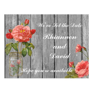 Rose of Orleans Save the Date Card Postcards