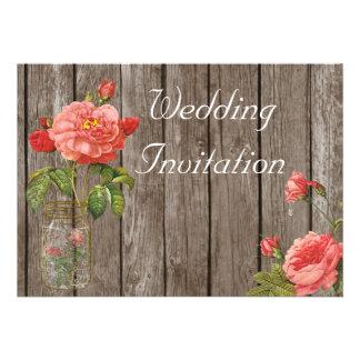 Rose of Orleans Sorrel Wedding Invitation Card