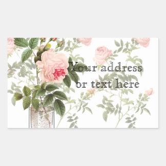 Rose of Orleans White  Mason Jar and Daffodils Rectangular Sticker