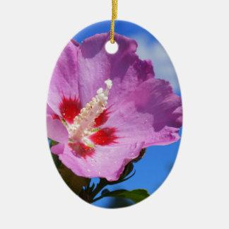 Rose of Sharon Ceramic Oval Decoration