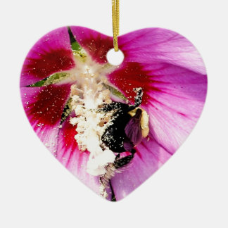 Rose of Sharon Stalker Ceramic Heart Decoration