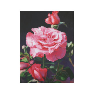 Rose Oil Painting On Canvas Stretched Canvas Prints