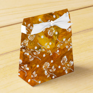 Rose on amber background favour boxes