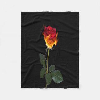 Rose on Fire Fleece Blanket