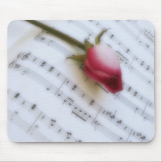 Rose On Music Sheet Mousepad