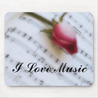 Rose On Music Sheet Mousepad