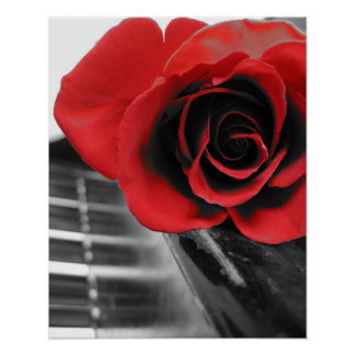Rose on Piano Collection I Poster