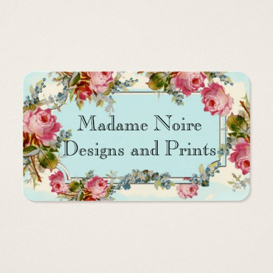 Rose on Powder Blue Business Card