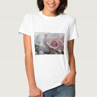 Rose on River Rocks Tee Shirt