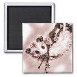 Rose Opossum Magnet