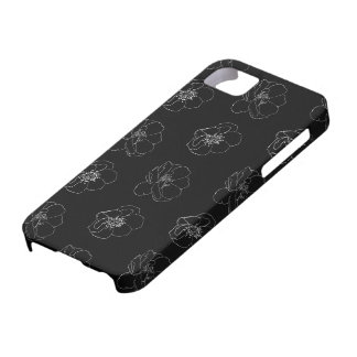 Rose Outline Pattern on editable background colour iPhone 5 Cover