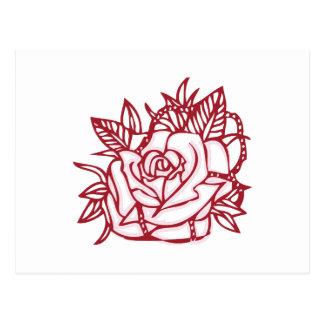 Rose Outline Postcard