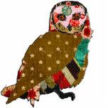 Rose Owl Sculpture