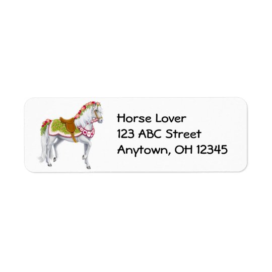Rose Parade Horse Label Return Address Label