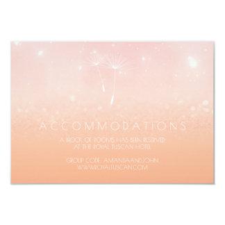 Rose Pastel Peach Ombre Wedding Hotel Accomodation Card