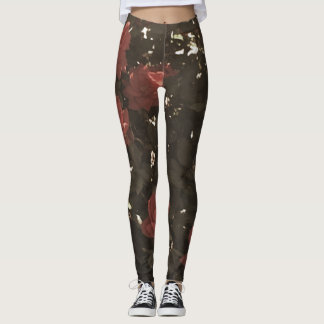 Rose Pattern Leggings