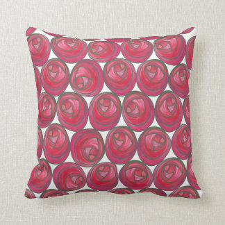 Rose Pattern Pillow in the Art Nouveau Style Throw Cushions