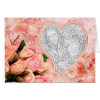 Rose Petal Heart - Inside Verse - Template Greeting Card
