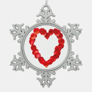 Rose Petal Heart Ornaments