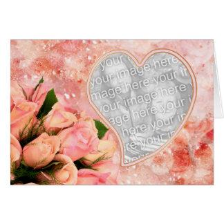 Rose Petal Heart - Template - Blank Inside Greeting Card