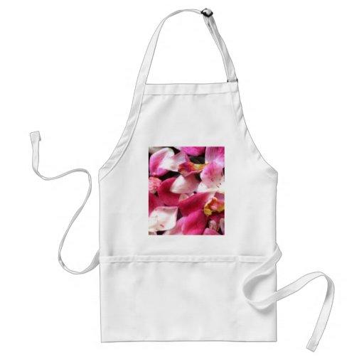 Rose petals apron