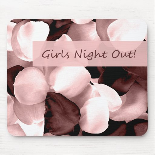 rose petals ~ girls night out mouse pad