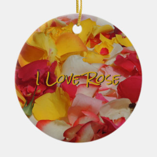 Rose Petals in Cuenca Round Ceramic Decoration