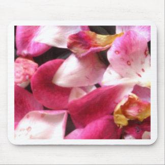 Rose petals mouse pads