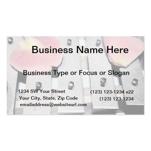 Rose Petals on Metal Bells Faded style Business Cards