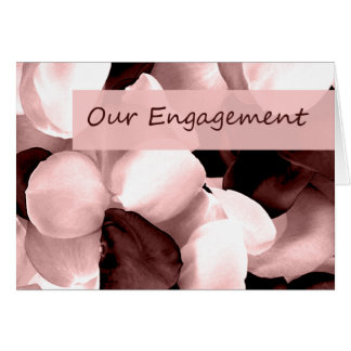 rose petals ~ our engagement cards