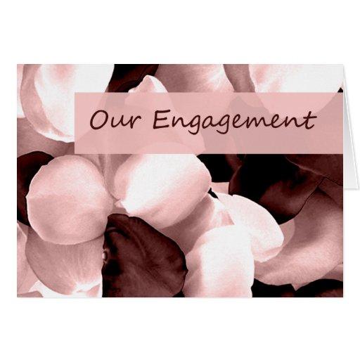 rose petals ~ our engagement cards