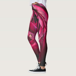 Rose petals (shades of red) leggings