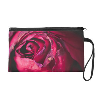 Rose petals (shades of red) wristlet