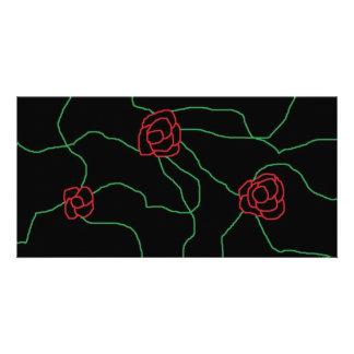 rose custom photo card