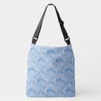 Rose Photography Lt Blue lace and Satin Crossbody Bag