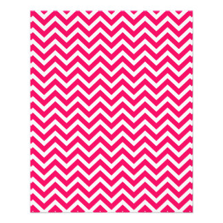 Rose Pink and White ZigZag Chevron Valentine Waves Personalized Flyer