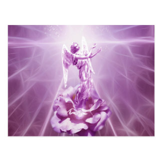 Rose pink Angel flame of love Postcard