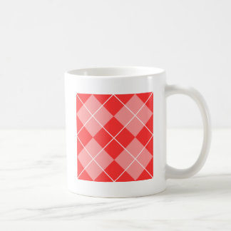 Rose & Pink Argyle Basic White Mug
