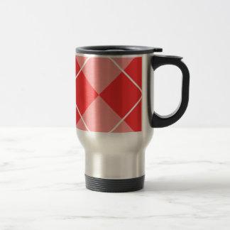Rose & Pink Argyle Stainless Steel Travel Mug
