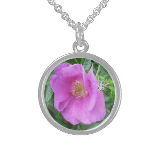 Rose Pink Beach Plum Necklace