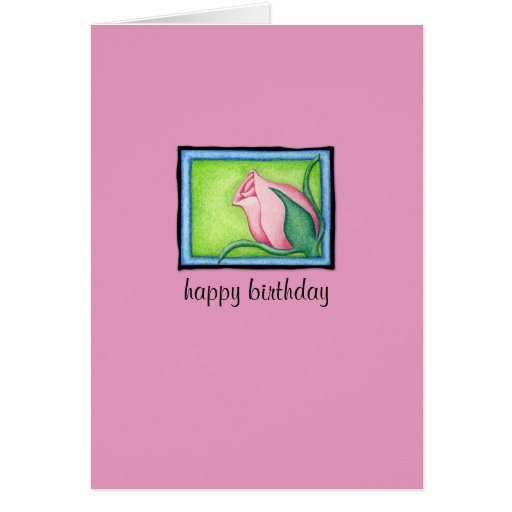 Rose pink Birthday Card