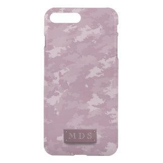 Rose Pink Camo Faux 3D Monogram iPhone 7 Plus Case