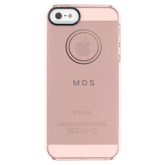 dd35d7cc92 Rose Pink Clear iPhone 5SE Case   Zazzle.co.uk