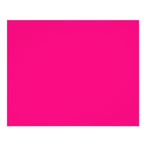 Rose Pink Color Only Custom Design Products Flyers