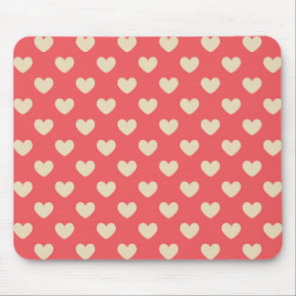 Rose Pink Country Hearts Mouse Pads