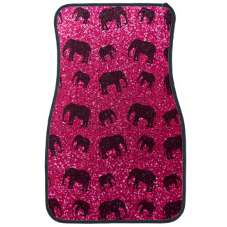 Rose pink elephant glitter pattern car mat