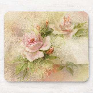 Rose pink feminine ladies mouse pad